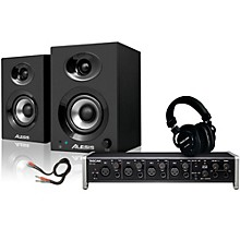 Tascam US-4x4 TH-200X Headphone Package
