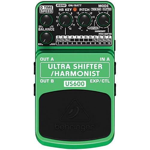 Behringer US600 Ultra Shifter/Harmonist Guitar Effects Pedal