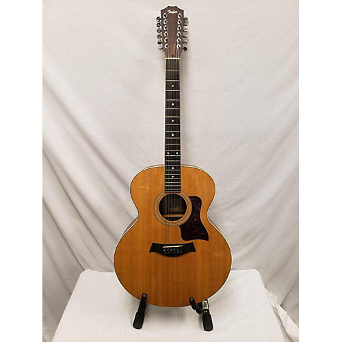 In Store Used USED TAYLOR 455 NATURAL 12 STRING ACOUSTIC GUITAR