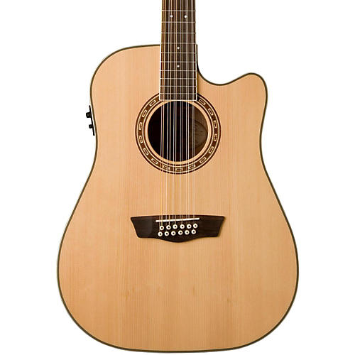 Washburn USM-WD10SCE12 Cutaway 12-String Acoustic-Electric Guitar