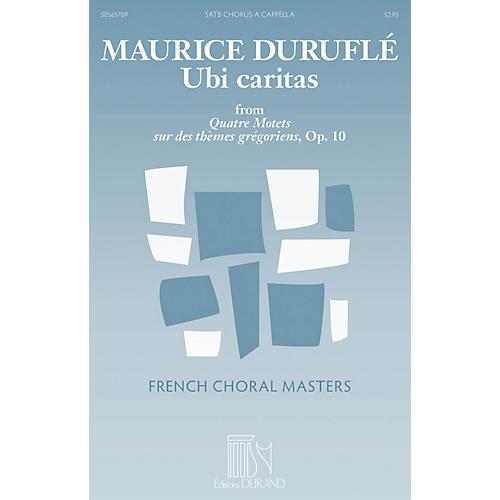 Durand Ubi caritas (from Quatre Motets sur des thèmes grégoriens, Op. 10) SATTBB A Cappella by Maurice Duruflé