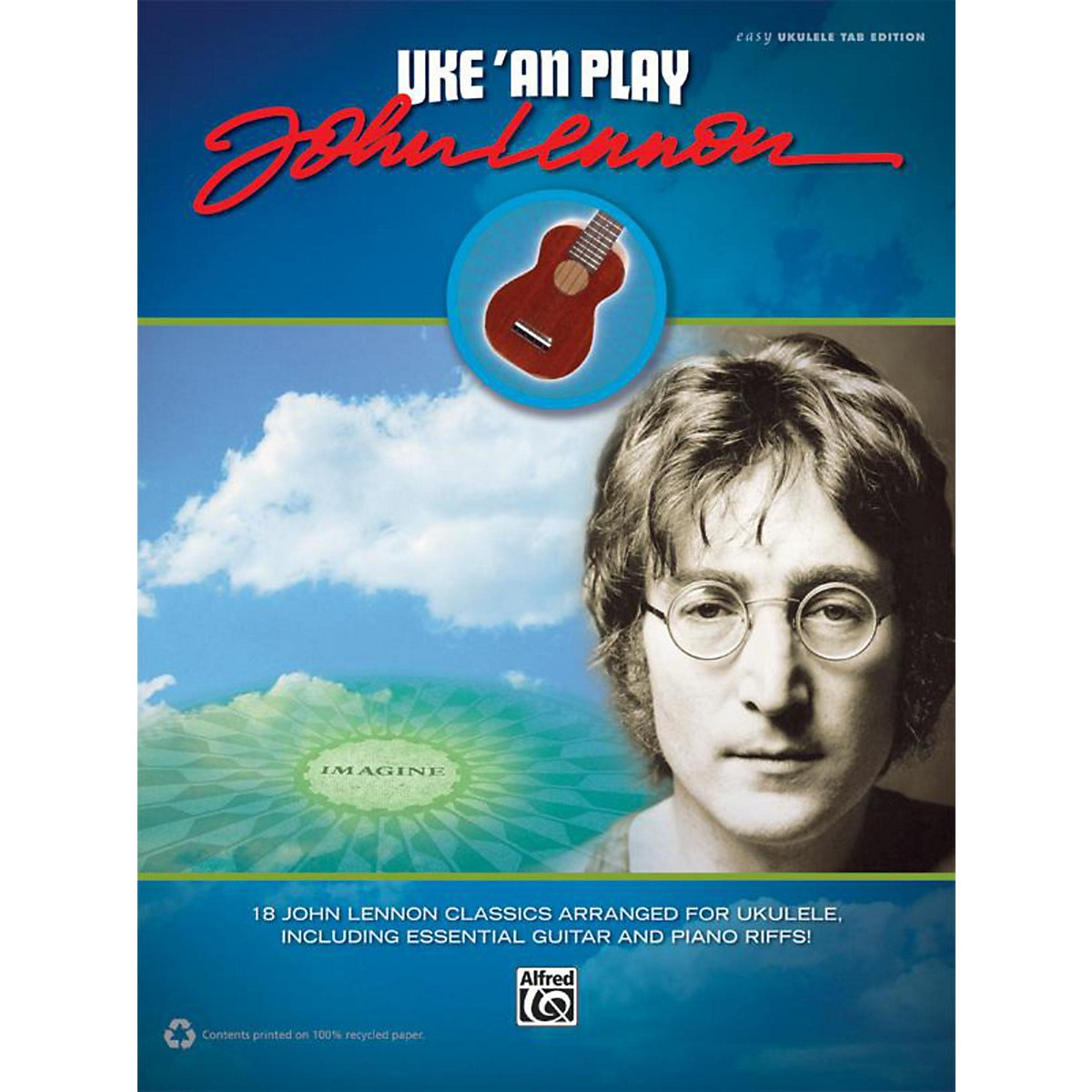 Alfred Uke 'An Play John Lennon Easy Ukulele TAB Book