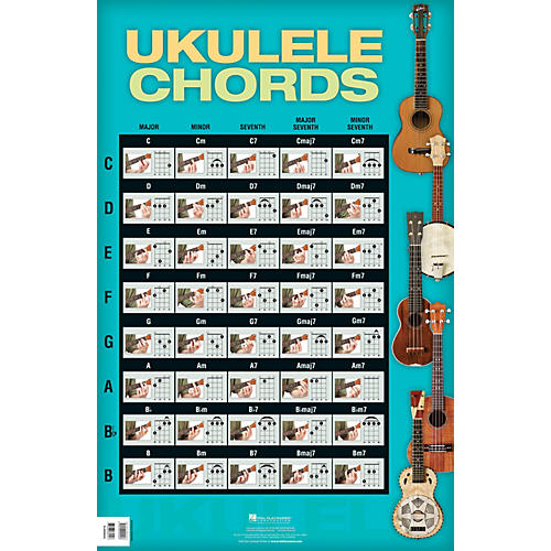 Ukulele ukulele chords poster : Hal Leonard Ukulele Chords Poster | Guitar Center