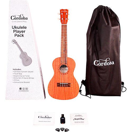 Cordoba Ukulele Player Pack - Concert Ukulele