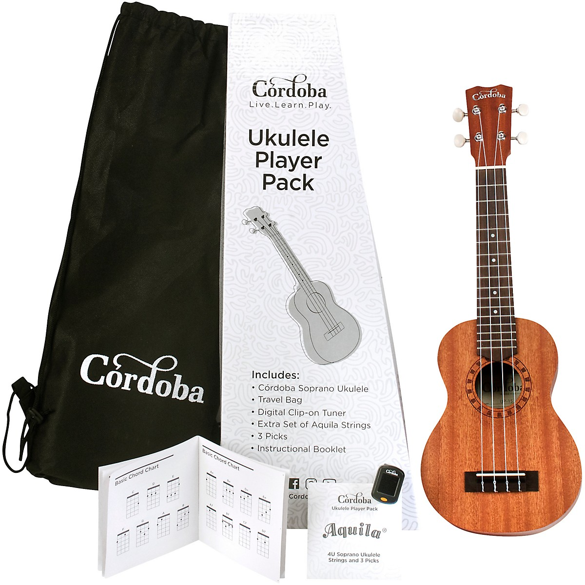 Cordoba Ukulele Players Pack