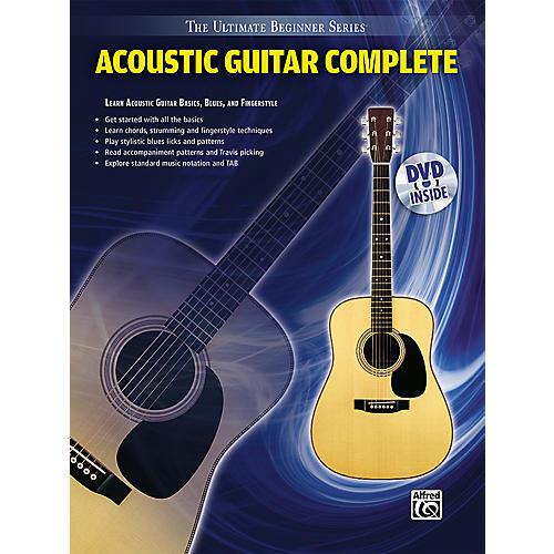 Alfred Ultimate Beginner Series Acoustic Guitar Complete Book & DVD