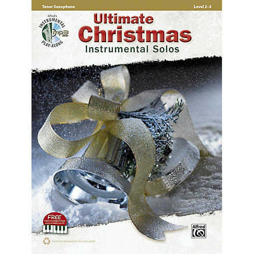 Alfred Ultimate Christmas Instrumental Solos Tenor Sax Book & CD