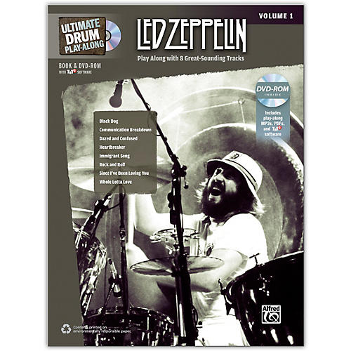 Alfred Ultimate Drum Play-Along: Led Zeppelin, Volume 1 With DVD