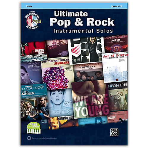 Alfred Ultimate Pop & Rock Instrumental Solos for Strings Viola (Book/CD)