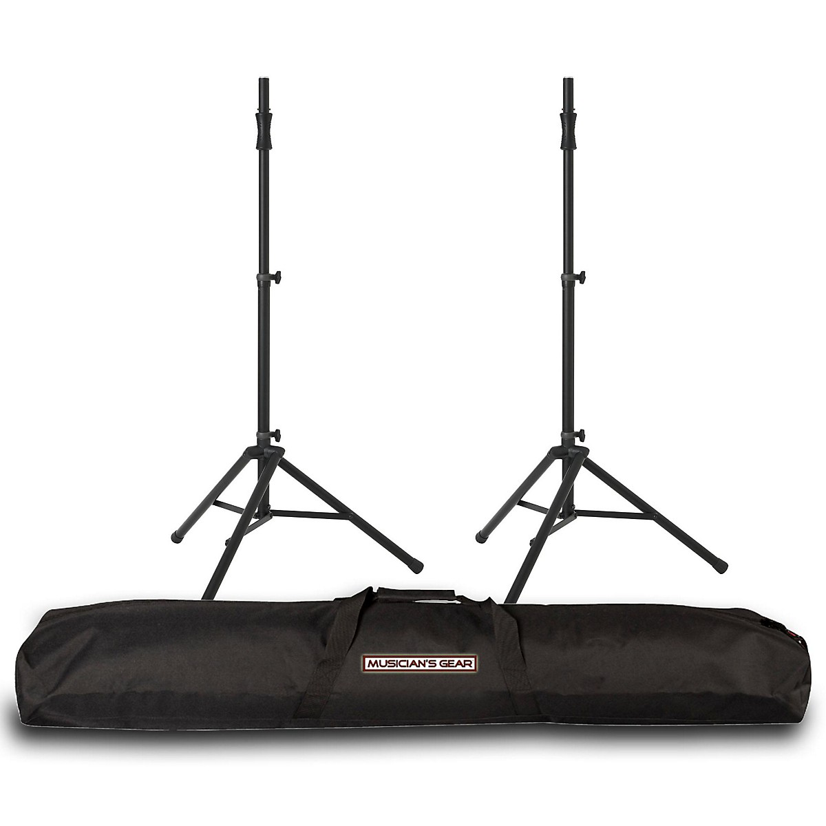 Ultimate Support Ultimate Support TS-100 Speaker Stand Pair w/ Musicians Gear Speaker Stand Bag