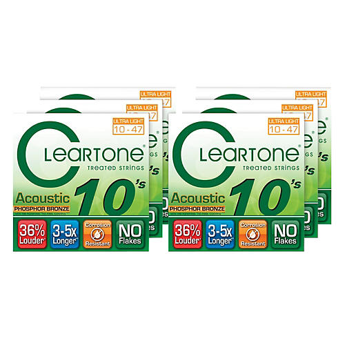 Cleartone Ultra Light Acoustic Guitar Strings 6 Pack