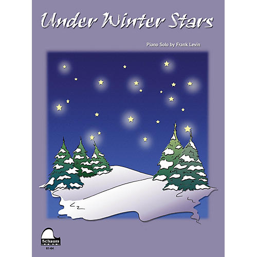 SCHAUM Under Winter Stars Educational Piano Series Softcover