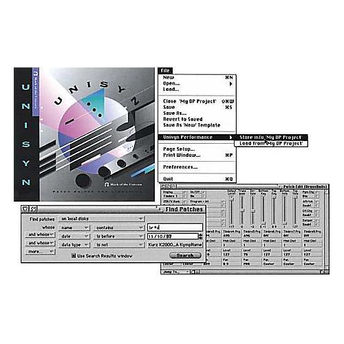 MOTU Unisyn Universal MIDI Device Editor/Librarian 1.5 for Mac