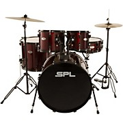 Unity 5-Piece Drum Set with Hardware, Cymbals and Throne Wine Red