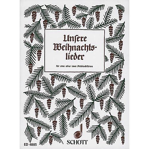 Schott Unsere Weihnachtslieder (Performance Score) Schott Series Arranged by Hans Hilsdorf