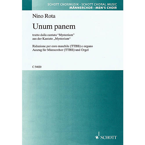 Schott Music Unum Panem (from the cantata Mysterium) SATB Composed by Nino Rota