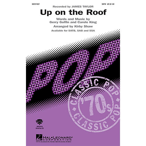 Hal Leonard Up On the Roof SATB by James Taylor arranged by Kirby Shaw