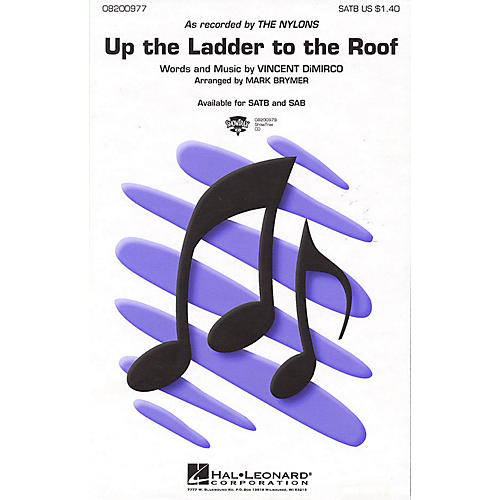 Hal Leonard Up the Ladder to the Roof SATB by The Nylons arranged by Mark Brymer