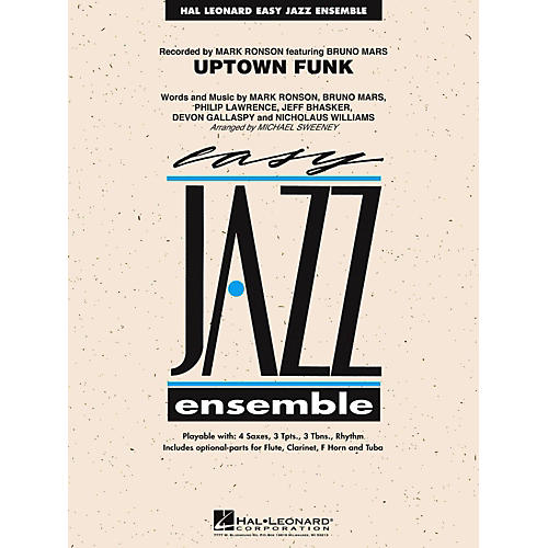 Hal Leonard Uptown Funk Jazz Band Level 2