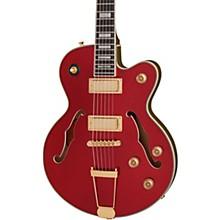 Uptown Kat ES Semi-Hollow Electric Guitar Ruby Red Metallic