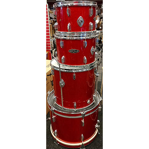 In Store Used Used 1960s Apollo 4 piece Super-gig Candy Apple Red Drum Kit