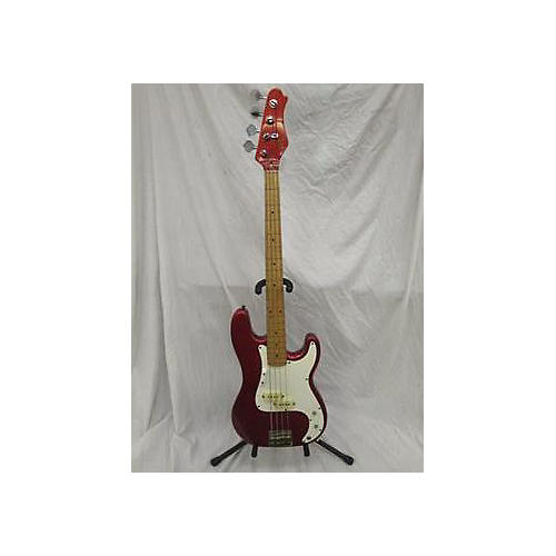 In Store Used Used 1990s Mach 1 Thunder Series Fiesta Red Electric Bass Guitar