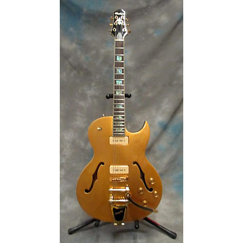 In Store Used Used 2010 Prestige NYS Deluxe Gold Top Hollow Body Electric Guitar