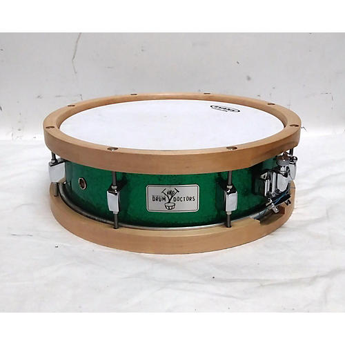 In Store Used Used 2011 Nashville Drum Doctor 5X13 Wooden Rim Drum Green Sparkle