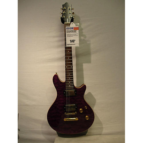 In Store Used Used 2012 EDWARDS POTBELLY E-PO-015D/QM PURPLE QUILT Solid Body Electric Guitar