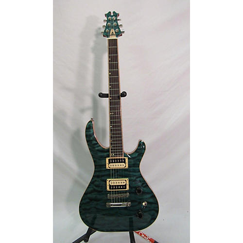 In Store Used Used 2013 David Thomas McNaught Phoenix Rising Ocean Turquoise Solid Body Electric Guitar