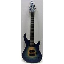 Used 2015 Mayones Regius 7 Ocean Blue Burst Solid Body Electric Guitar