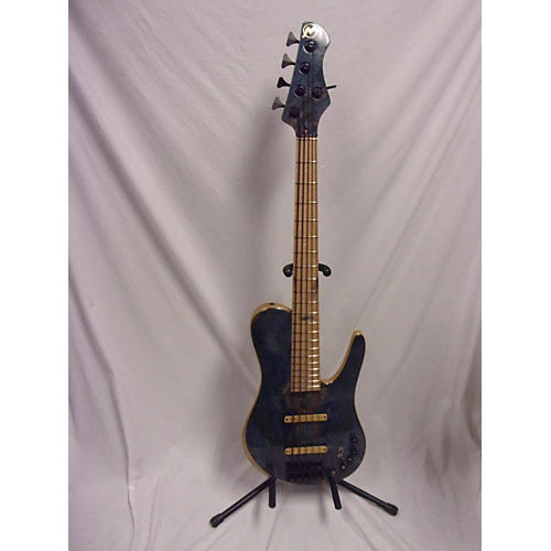 In Store Used Used 2016 Marco Cortez Custom SC 5 Trans Blue Spalt Maple Top Electric Bass Guitar