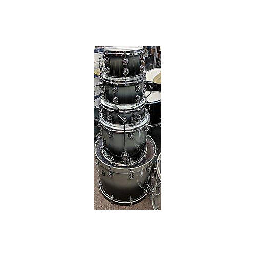 In Store Used Used 2016 NATAL 5 piece BUBINGA FUSION SILVER TO BLACK FADE Drum Kit