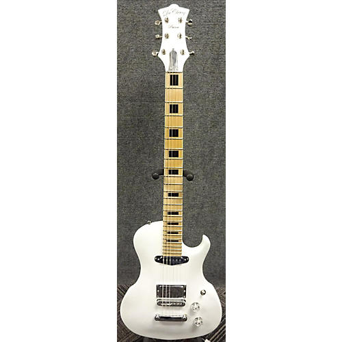 In Store Used Used 2017 De Clercq Prince Metallic White Solid Body Electric Guitar
