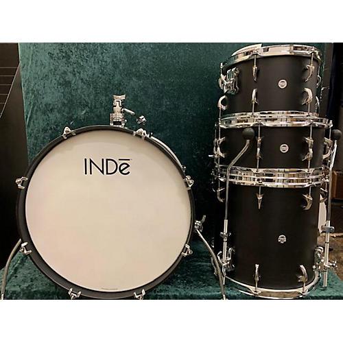 In Store Used Used 2019 INDe Drum Lab 4 piece MAPLE Satin Black Drum Kit
