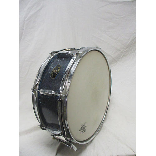 In Store Used Used APOLLO 5X14 WOOD SNARE DRUM Drum BLUE SPARKLE