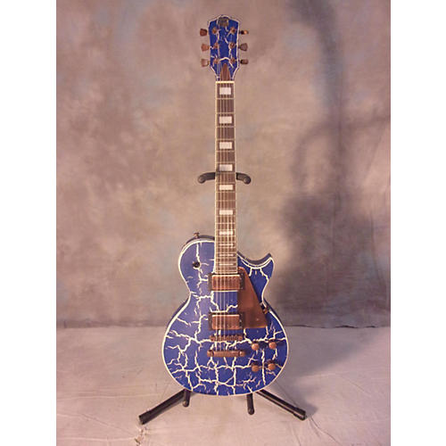In Store Used Used Axl Guitars Les Paul Blue & White Solid Body Electric Guitar