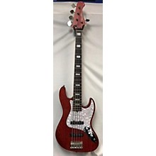 Used Bacchus Japan Craft Series WL5 Red Electric Bass Guitar