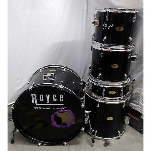 Used Basix 5 Piece Royce Black Drum Kit Guitar Center