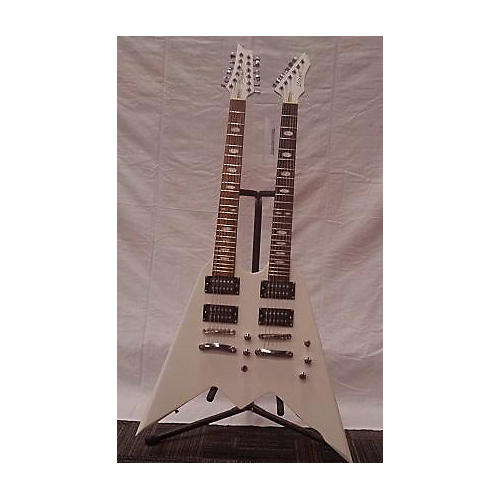 In Store Used Used COZART DOUBLE NECK Alpine White Solid Body Electric Guitar