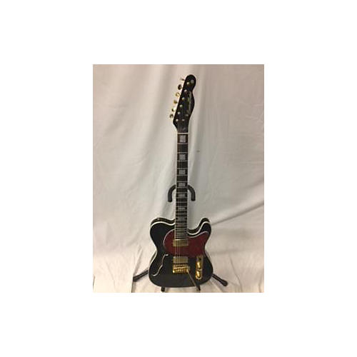 In Store Used Used CUSTOM BUILD T STYLE Black Hollow Body Electric Guitar