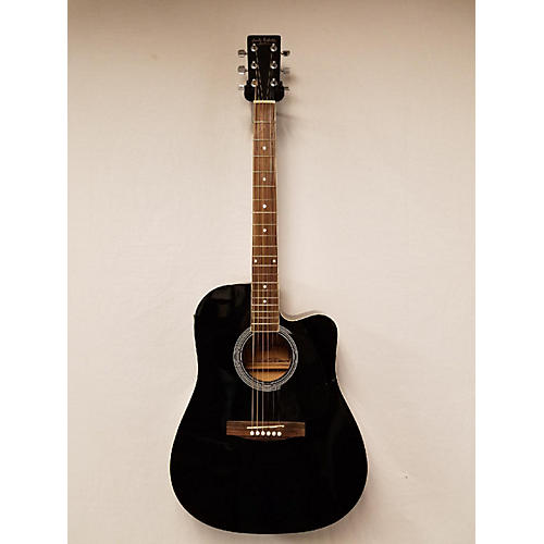 In Store Used Used Carlos Robelli CDG27CEBK Black Acoustic Electric Guitar