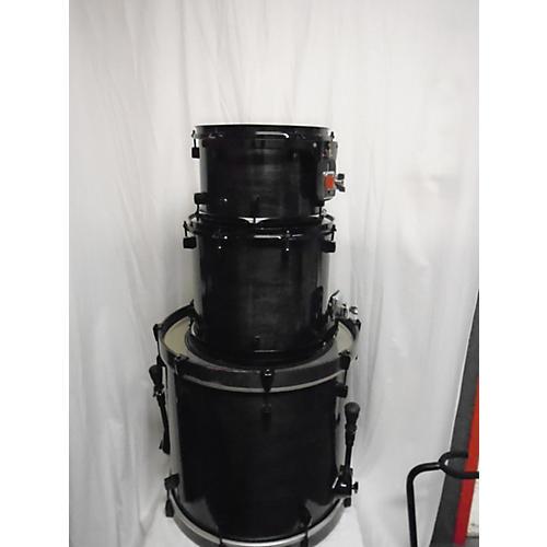 In Store Used Used Conaway 3 piece Custom Keller Shell Kit Trans Black Drum Kit