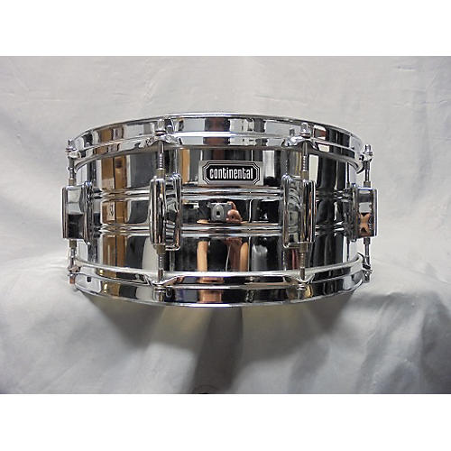 In Store Used Used Continental 5.5X14 Steel Snare Chrome Drum