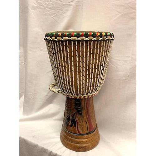 In Store Used Used Custom OVerseas Senegal 18x8 Djembe Djembe