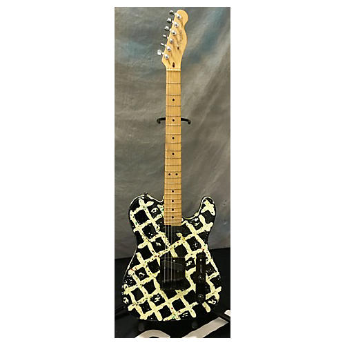 In Store Used Used Custom T Black And White Solid Body Electric Guitar