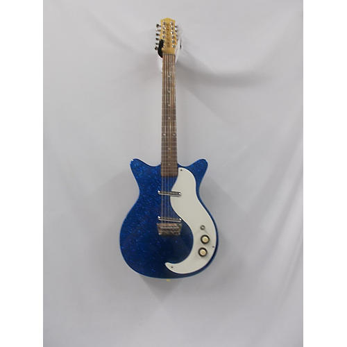 In Store Used Used Danele 12sdc Blue Sparkle Solid Body Electric Guitar
