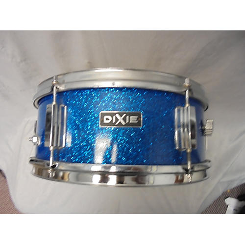 In Store Used Used Dixie 5X14 Blue Sparkle Drum