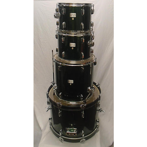In Store Used Used Drum Zone 4 piece Standard Emerald Green Drum Kit
