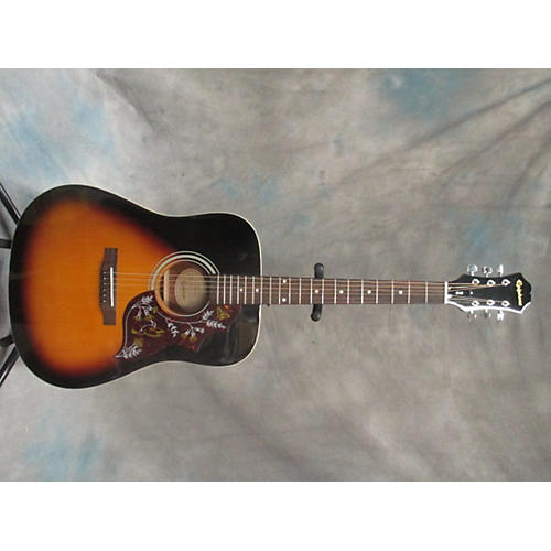 In Store Used Used EPHIPHONE PR150VS 3 Tone Sunburst Acoustic Guitar